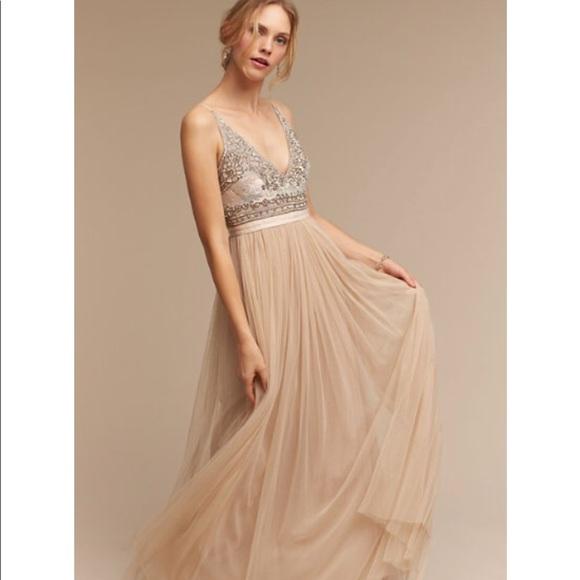 d27030737b6a Needle & Thread Dresses | Bhldn Brisa Dress In Nude | Poshmark